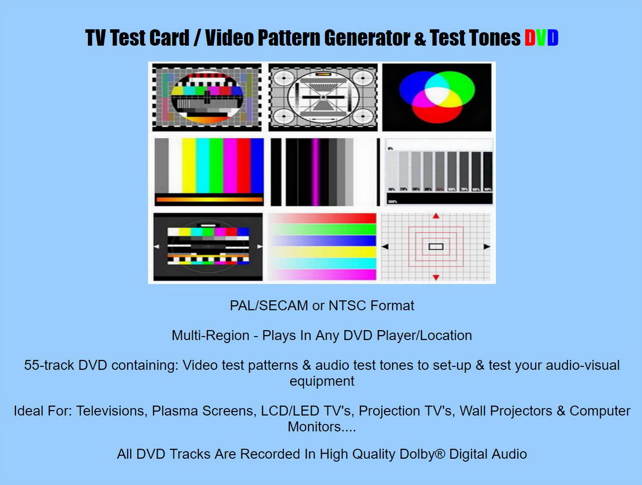 Tv Test Pattern Generator With Wireless Model